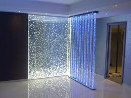 lighted corner of enchanting glass room partitions design ideas