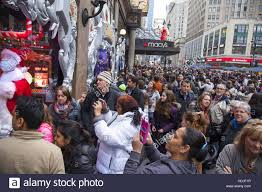 thanksgiving day shopping crowds of people were at macy u0027s department store shopping and