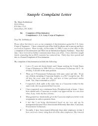 Formal Complaint Letter Against An Employee brilliant ideas of best photos of sle plaint letter against
