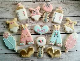 boho baby shower boho pink blue and gold baby shower sugar cookies the iced