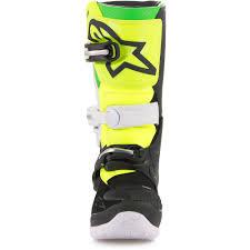 motocross youth boots alpinestars new mx 2018 tech 7s prodigy black white green kids