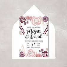 Wedding Invitations Glasgow Pretty Floral Wedding Invitation Botanic Wedding Invitation