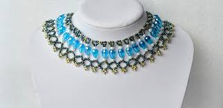 bib necklace beaded images How to make chic beading bib necklace with pearl and glass beads jpg