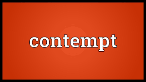 contempt meaning youtube