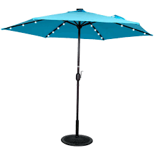 10 Foot Patio Umbrella Patio Umbrella Solar Lights Led 10 Foot Wide Rectangular Offset