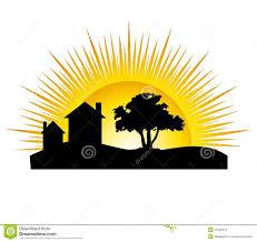 house silhouette sun stock photos image 10795273