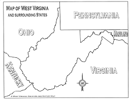 County Map West Virginia by Lesson Images