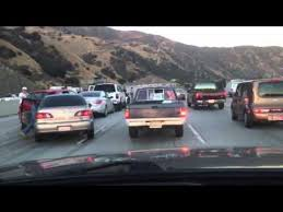 traffic accident 91 freeway youtube
