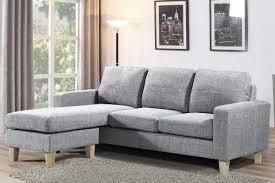 3 Seater Corner Sofa Admaston Compact L Shaped Corner Sofa Settee Charcoal Grey Fabric