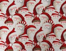 christmas fabric santa face fabric leopard hat santa face