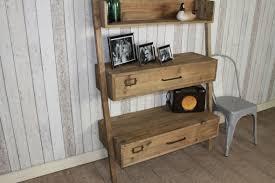 ladder back shelves bookcase industrial style