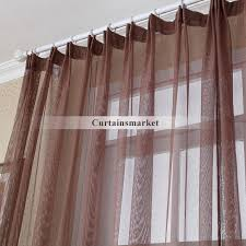 yarn coffee colored vintage sheer curtains