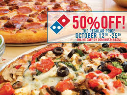 jobs at domino s pizza 50 off online order dominosbahamas gives you the 50 off october 12th 25th online