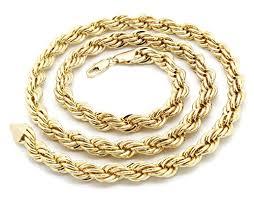 gold big chain necklace images Mens 14k gold big jesus cz pendant hip hop 30 inch 10mm rope jpg