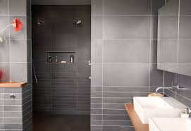 tile ideas for small shower stalls black polished steel frame ideas using black tile backsplash and rectangular white sinks also with silver single hole faucets mirrors mesmerizing bathrooms look