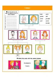 english teaching worksheets family