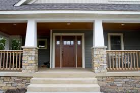 exterior columns white square columns on stone pillars accented