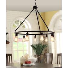 9 Bulb Chandelier Shea Bronze Edison Bulb 9 Light Chandelier Free Shipping Today