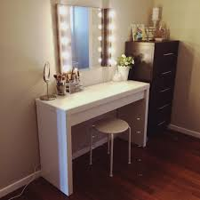 Ikea White Desk Table by Furniture Makeup Desk Ikea For A Feminine Appeal U2014 Threestems Com