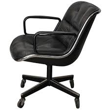 Executive Office Chairs Fabric Midcentury Executive Desk Leather Chair By Charles Pollock For