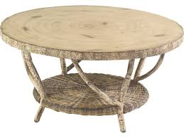 Round Wooden Outdoor Table Whitecraft River Run 36 Round Faux Birch Top Coffee Table S545211