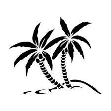 palm trees die cut vinyl decal pv747
