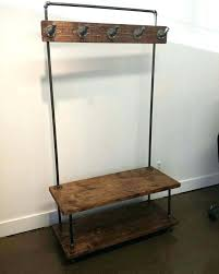 storage bench with coat rack uk entryway and diy bezoporu info