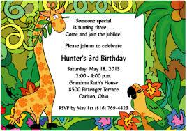 jungle theme birthday party jungle jubilee safari theme birthday party invitations