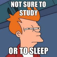 Study Memes - not sure to study or to sleep create meme