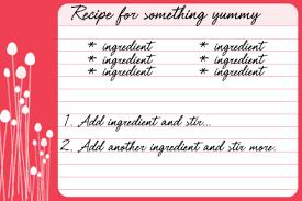 free recipe card templates floral pop printable recipe cards