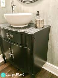 How To Turn A Dresser Into A Bathroom Vanity by How To Make An Old Dresser Into A Vanity Cabinet Jennifer Allwood