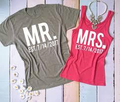 wedding gift honeymoon mr and mrs couples shirts honeymoon shirts just married