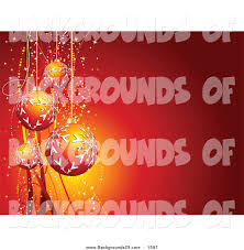 vector clipart of a 3d orange and red christmas ornaments with