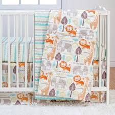 Crib Bedding Animals Poppi Living Safari Animals 3 Pc Crib Bedding Set Nursery