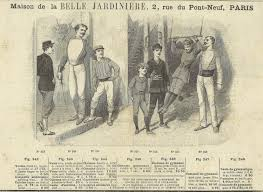 french fencing advertisement 1891 gymnastics sporting sport