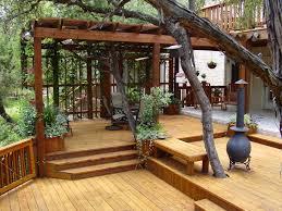 deck ideas design natural and elegant backyard deck design