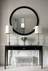 Corner Tables For Hallway Sh Bathroom Hallway Table Circular Mirror V Rend Hgtvcom Amys Office