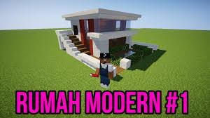 membuat rumah di minecraft cara membuat rumah modern sederhana minimalis minecraft 1 youtube