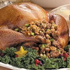 turkey with sausage pecan recipe taste of home