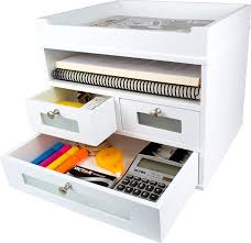 white wood desk with drawers amazon com white desk organizer wooden construction with storage