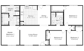 four bedroom modern design 4 bedroom house floor plans four bedroom home plans