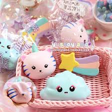 cuisine kawaii kawaii unicorn cat emoji cloud rainbow squishy rising