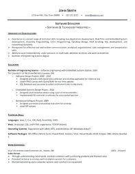 Template For Resume Free Download Sample Resume For Experienced Software Engineer Free Download