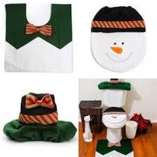 Snowman Rug Colormix Yeduo 1 Sets Happy Snowman Christmas Bathroom Set Toilet