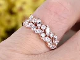 custom wedding rings custom jewelry gold wedding rings anniversary band marquise