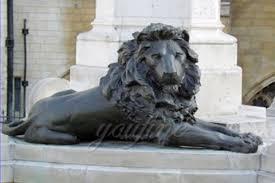 lion statues customized modern garden sculptures bronze lion statues lying