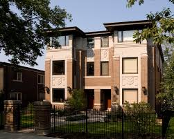 Frank Lloyd Wright Prairie Style by 106 108 Myrtle Avenue Townhomes Prairiearchitect