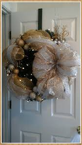 wreath lighted garland wreath silver gold swag