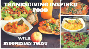 thanksgiving inspired food 2017 with twist