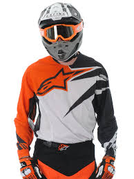 jersey motocross alpinestars orange black 2013 techstar mx jersey alpinestars